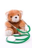 Teddy με το στηθοσκόπιο Στοκ εικόνες με δικαίωμα ελεύθερης χρήσης