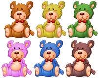 Σύνολο teddy αρκούδας διανυσματική απεικόνιση