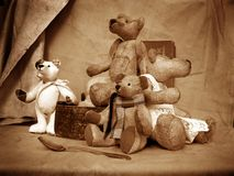 5 teddy στοκ εικόνα