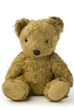 Teddy. A very old and shabby teddy bear on white Royalty Free Stock Photography