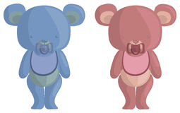 Teddy Baby Bears. Blue bear, pink bear. They're babies Stock Photos