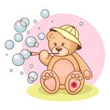 Teddy Baby and bubbles Royalty Free Stock Photo