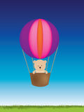 Teddy balloon Stock Image