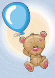 Teddy with balloon Stock Photography