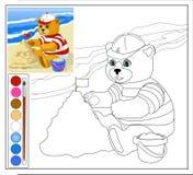 Teddy Bear à la plage Photos libres de droits