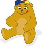 Teddy bear. Cute teddy bear in eating position Royalty Free Stock Photo