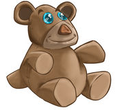 Teddy Bear. Blue eyes teddy bear vector illustration