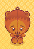 Teddy Bear. Illustration of brown teddy bear toy Stock Photo