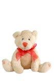 Teddy bear. Stuffed teddy bear with a bow tie isolated on white Royalty Free Stock Photos