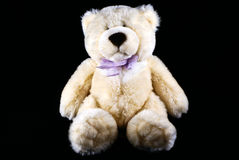 Teddy bear. Over black background Stock Image