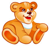Teddy bear. Illustration of the smiling sitting teddy bear Royalty Free Stock Photos