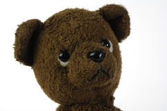 Teddy bear. Brown teddy bear looking sad Royalty Free Stock Photography