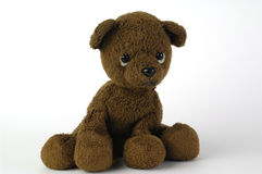 Teddy bear. Brown teddy bear looking sad Stock Image