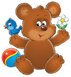 Teddy bear. Illustration for children. teddy bear Royalty Free Stock Photo