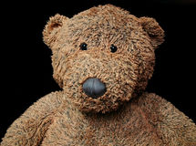 Teddy bear. Child's old worn teddy bear stock photos