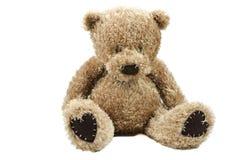 Teddy bear. A brown teddy bear isolated royalty free stock photos