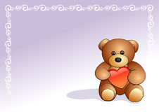 Teddy bear. With heart, vector illustration vector illustration
