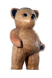 Teddy Bear. Wooden carved teddy bear standing up Royalty Free Stock Photos