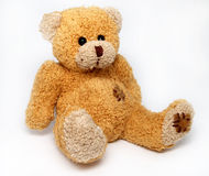 Teddy bear. Brown teddy bear on a white background Royalty Free Stock Photography