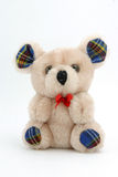 Teddy bear. Isolated sitting teddy bear Royalty Free Stock Images