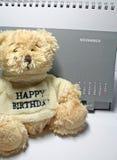 Teddy Bear. And calender royalty free stock photos