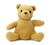 Teddy bear 6. Close up of teddy bear on white background with clipping path Royalty Free Stock Image