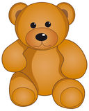 Teddy Bear. Isolated on white Royalty Free Stock Photography