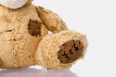 Teddy bear. A little sweet teddy bear Stock Photos