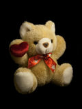 Teddy Bear. On black background Royalty Free Stock Photo