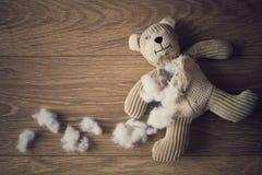 Teddy Bear abandonado fotografia de stock