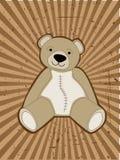 Teddy Bear accented against grungy ray beam Stock Photos