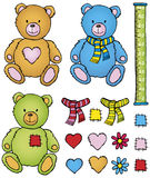 Teddy bear and accessories Royalty Free Stock Images