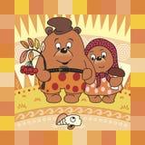 Teddy Bear And Autumn. Royalty Free Stock Photography