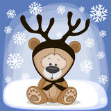 Teddy Bear with antlers Royalty Free Stock Images