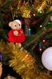 Teddy bear as Chritmas tree decoration Stock Image