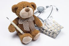 Teddy bear as a doctor royalty free stock photography