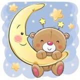 Teddy Bear auf dem Mond Stockbild