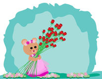 Teddy Bear avec Rose Photo libre de droits