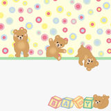 Teddy bear baby background. Scalable vectorial image representing a teddy bear baby background Royalty Free Stock Photography