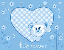 Teddy bear for baby boy Royalty Free Stock Image