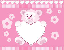 Teddy bear for baby girl Royalty Free Stock Image