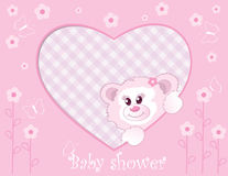 Teddy bear for baby girl vector illustration