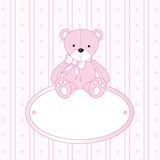 Teddy bear for baby girl stock photo