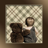 Teddy Bear and Baby Stock Image