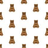Teddy Bear Baby Ilustração sem emenda do vetor liso ilustração stock