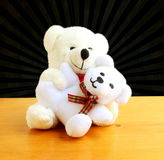 Teddy bear baby with mother Stock Photos