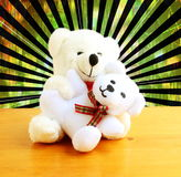 Teddy bear baby with mother Stock Photography
