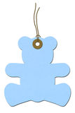 Teddy-bear Baby Shower Gift Tag Royalty Free Stock Photo
