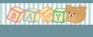 Teddy bear baby shower party banner Royalty Free Stock Photo