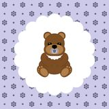 Teddy Bear Baby Vecteur plat Photo stock
